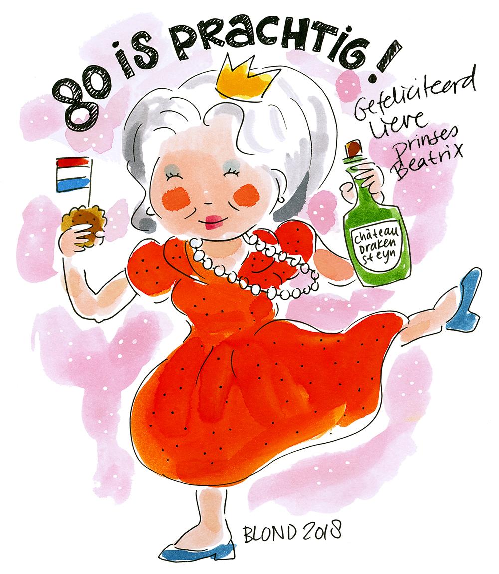 gefeliciteerd 80 jaar Hoera Prinses Beatrix 80 jaar! | De officiële webshop van Blond  gefeliciteerd 80 jaar