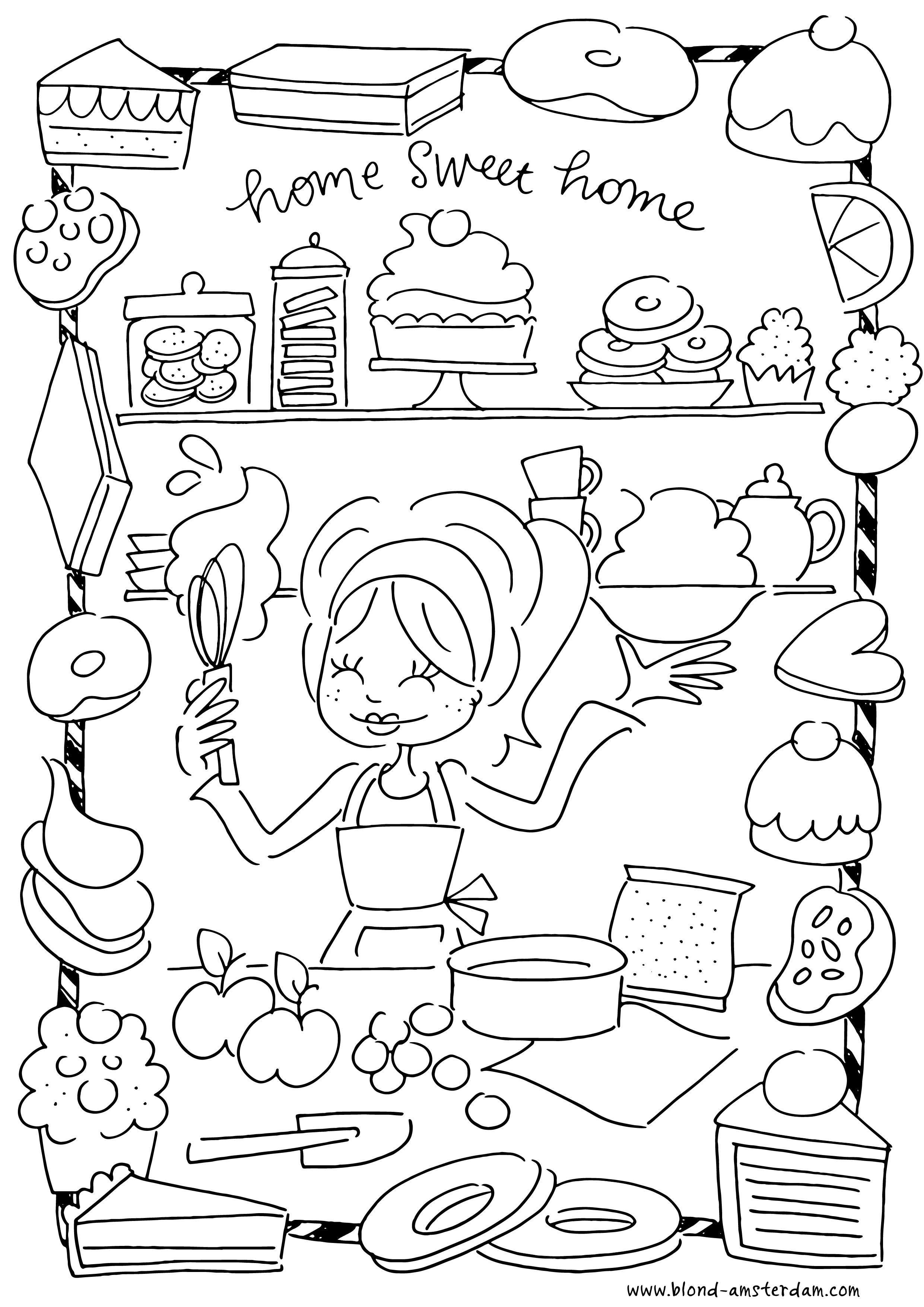 Keuken Kleurplaat