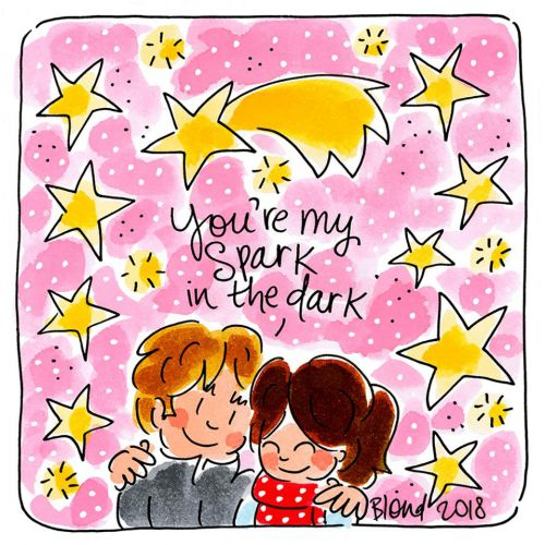 You're my spark in the dark