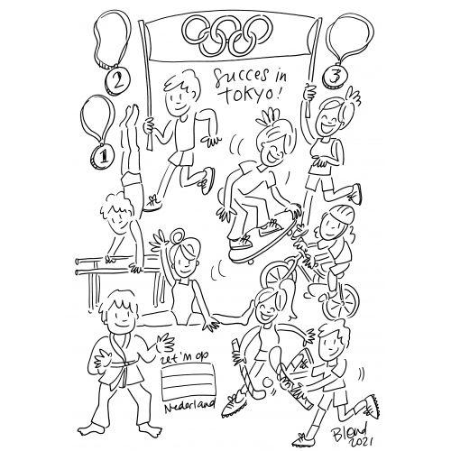 Olympische Spelen kleurplaat