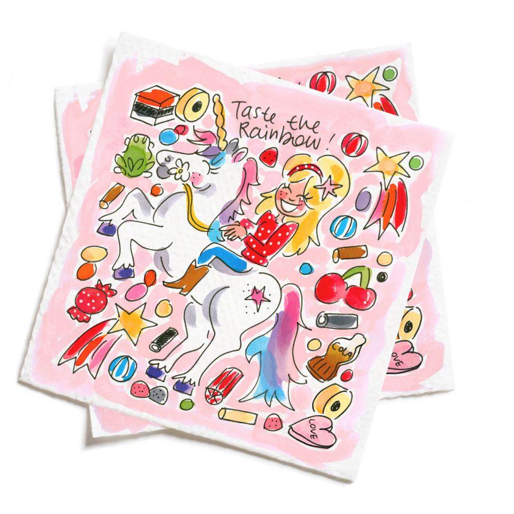 Set van 20 servetten Unicorn van Blond Amsterdam