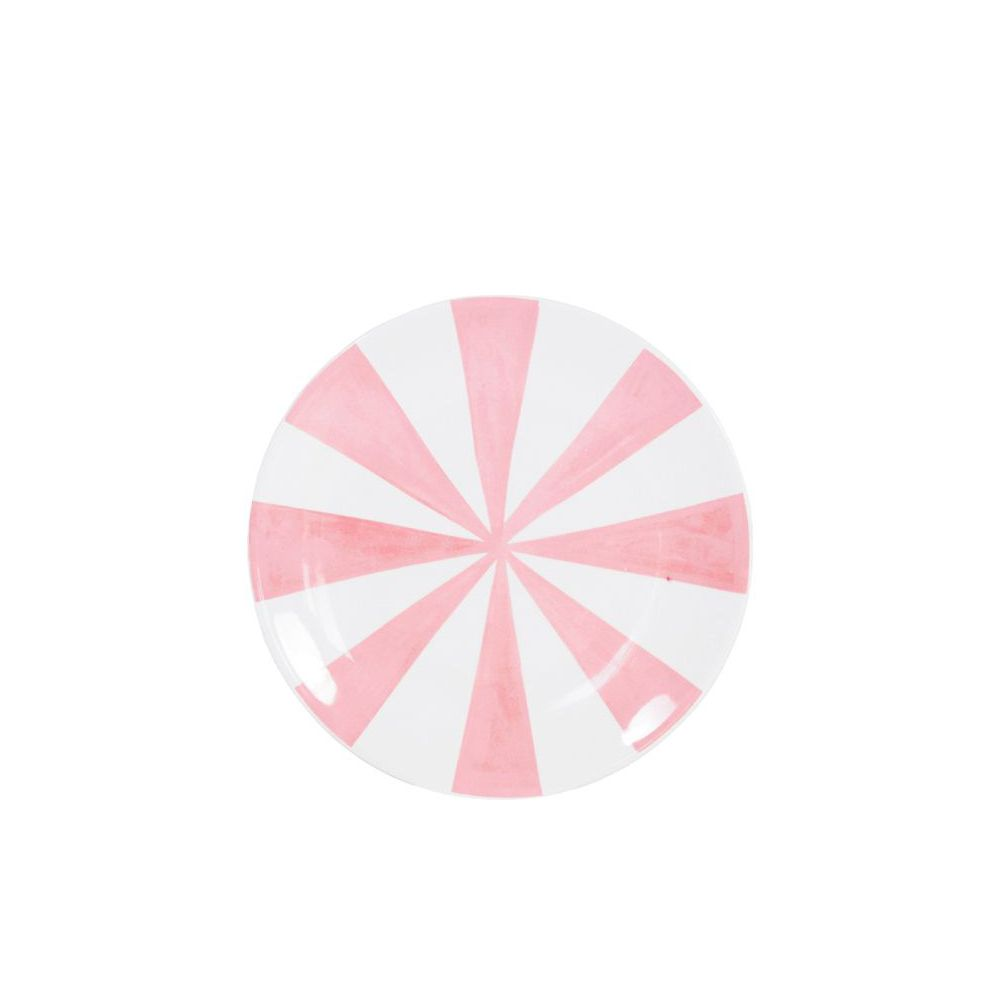 201237-SPE-PLATE 18CM PINK STRIPE-0
