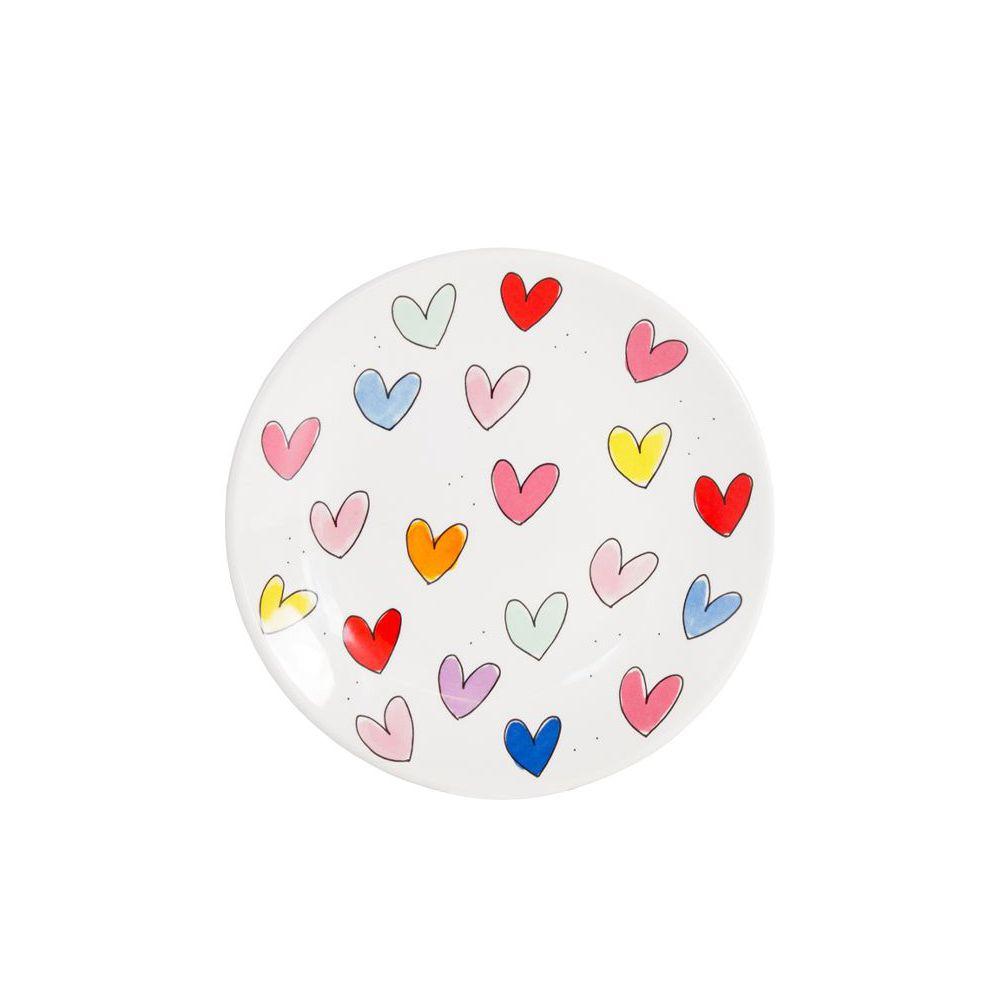 201241-UNI-PLATE 22CM HEARTS-0
