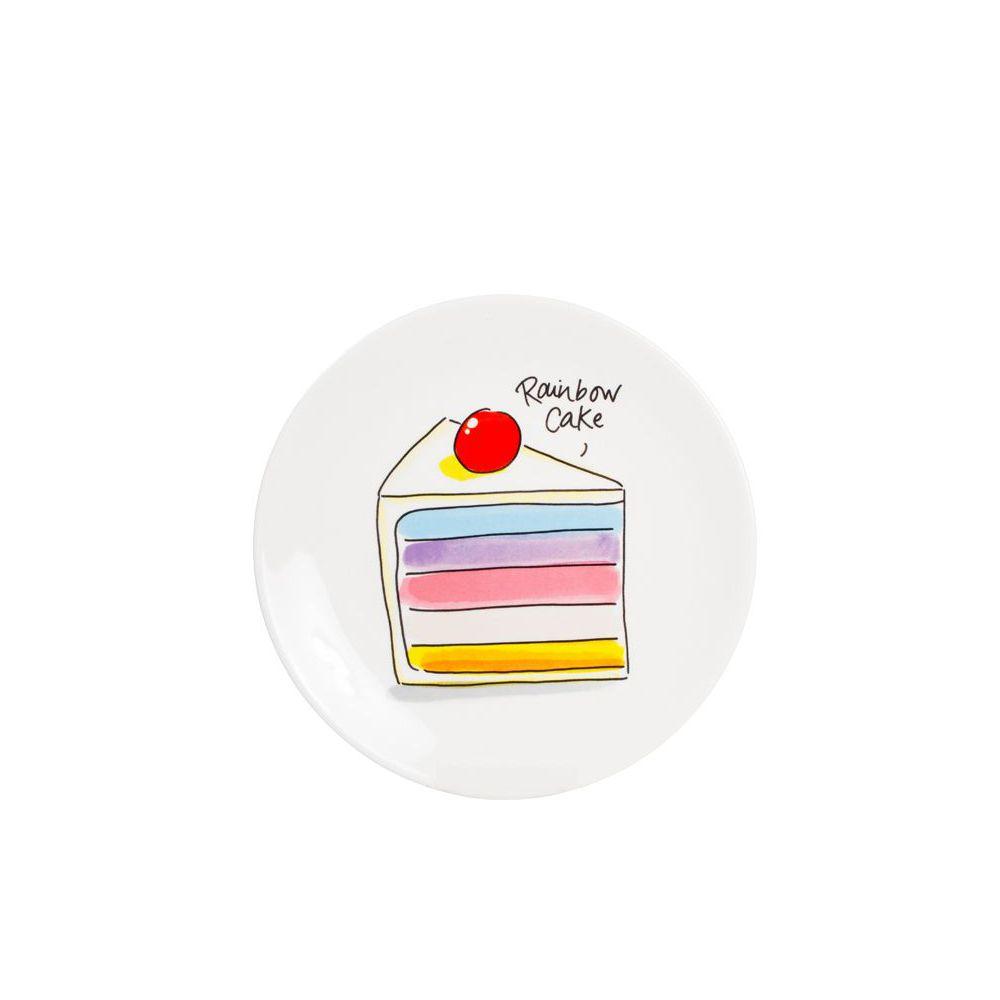 201248-SPE-CAKE PLATE 18 CM-RAINBOW CAKE0