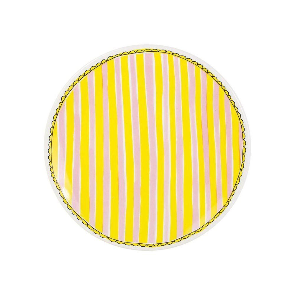 200064-plate 26 cm stripe0