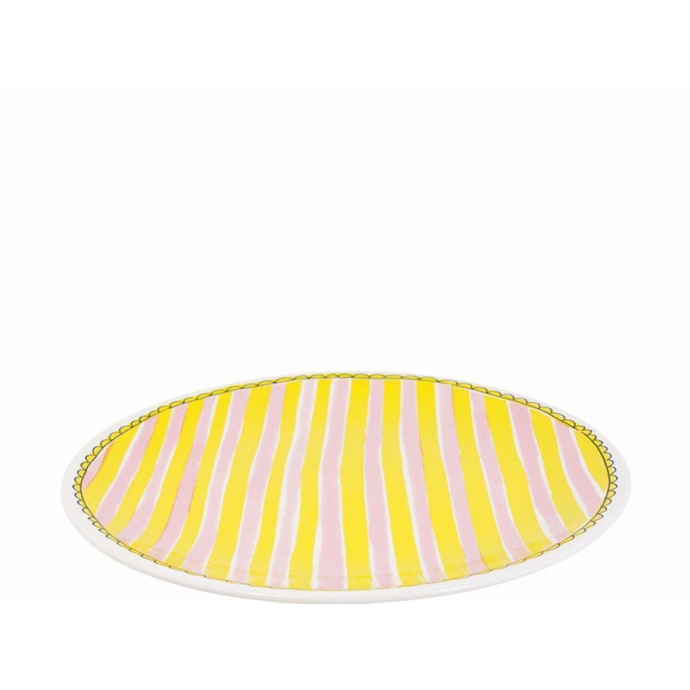 200064-plate 26 cm stripe1