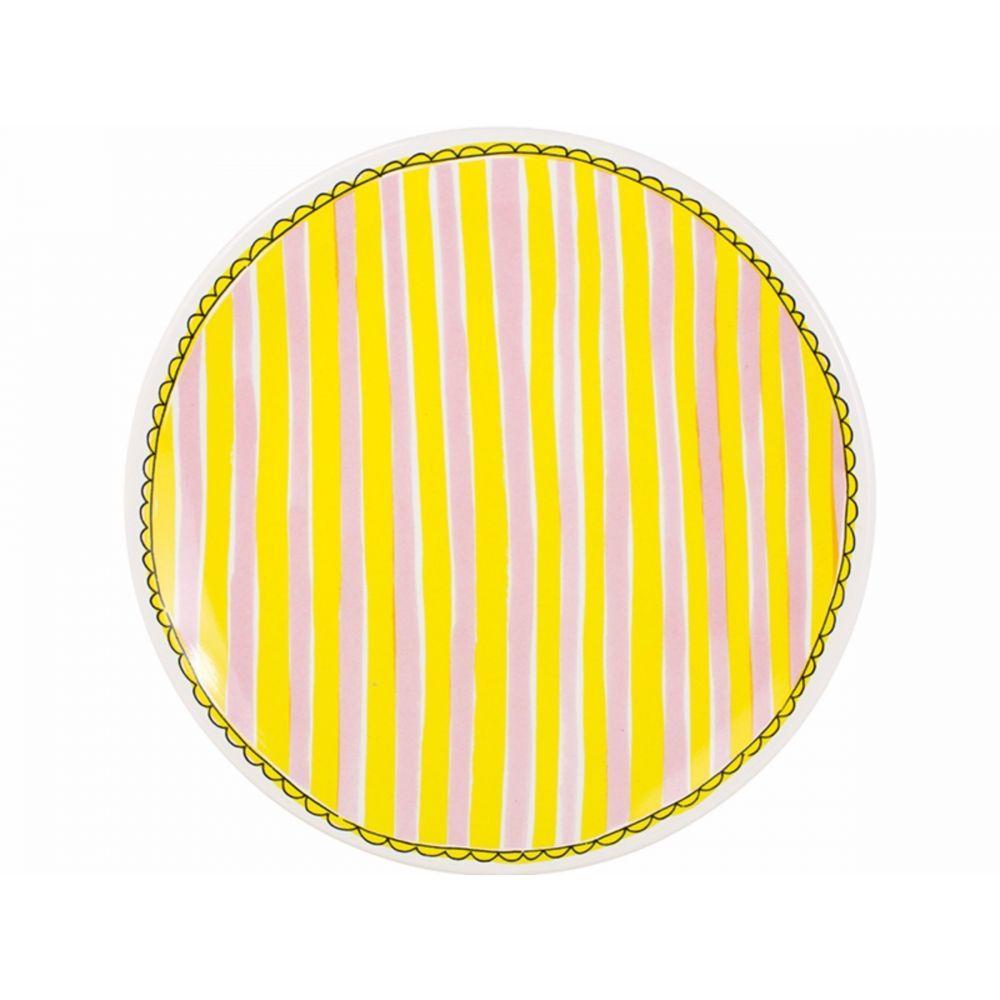 200064-plate 26 cm stripeHR