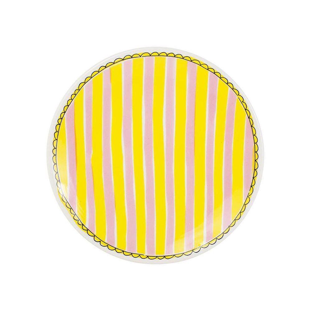 200065-plate 22 cm stripe0