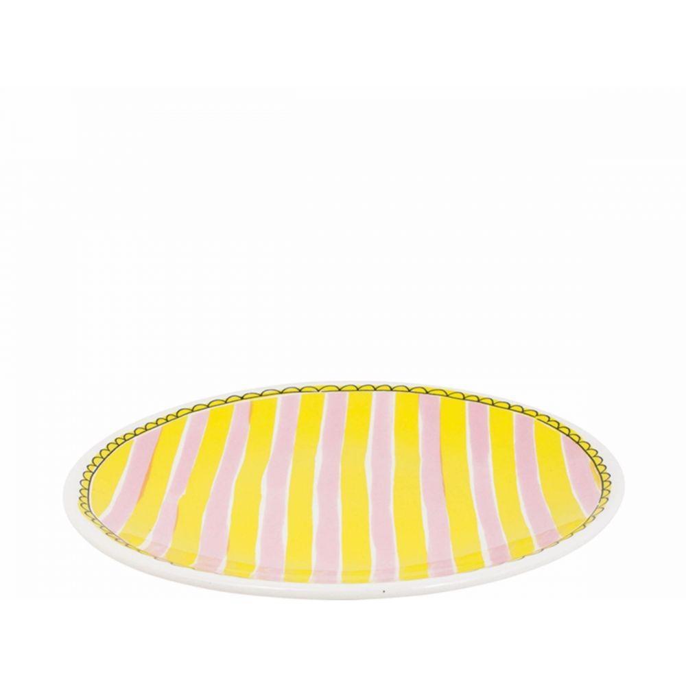 200065-plate 22 cm stripe1
