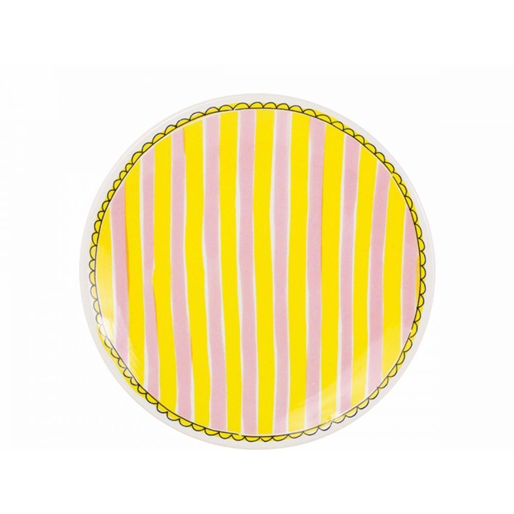 200065-plate 22 cm stripeHR