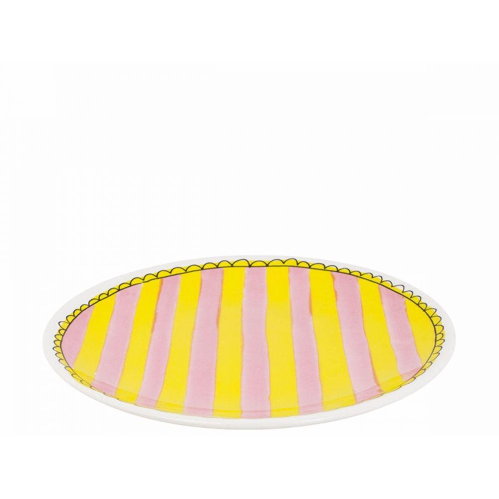 200066-plate 18 cm stripe1