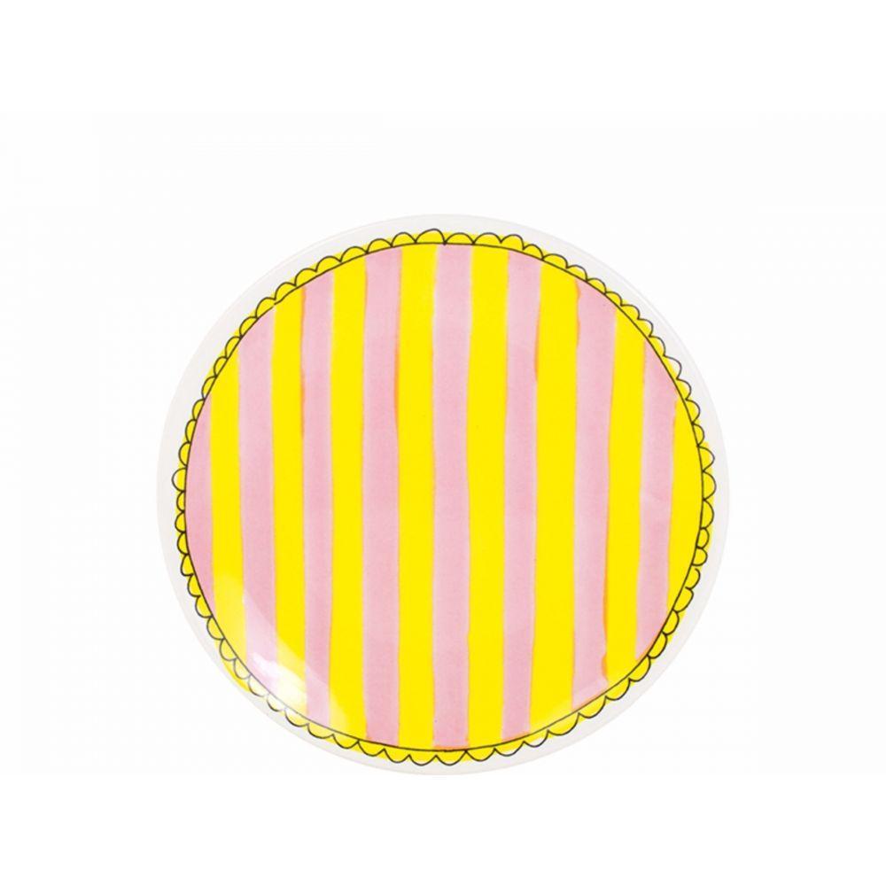 200066-plate 18 cm stripeHR