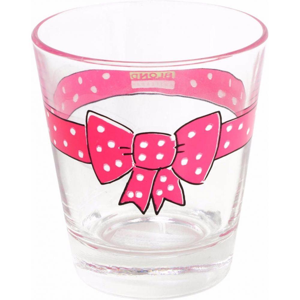 200264 glas donker roze