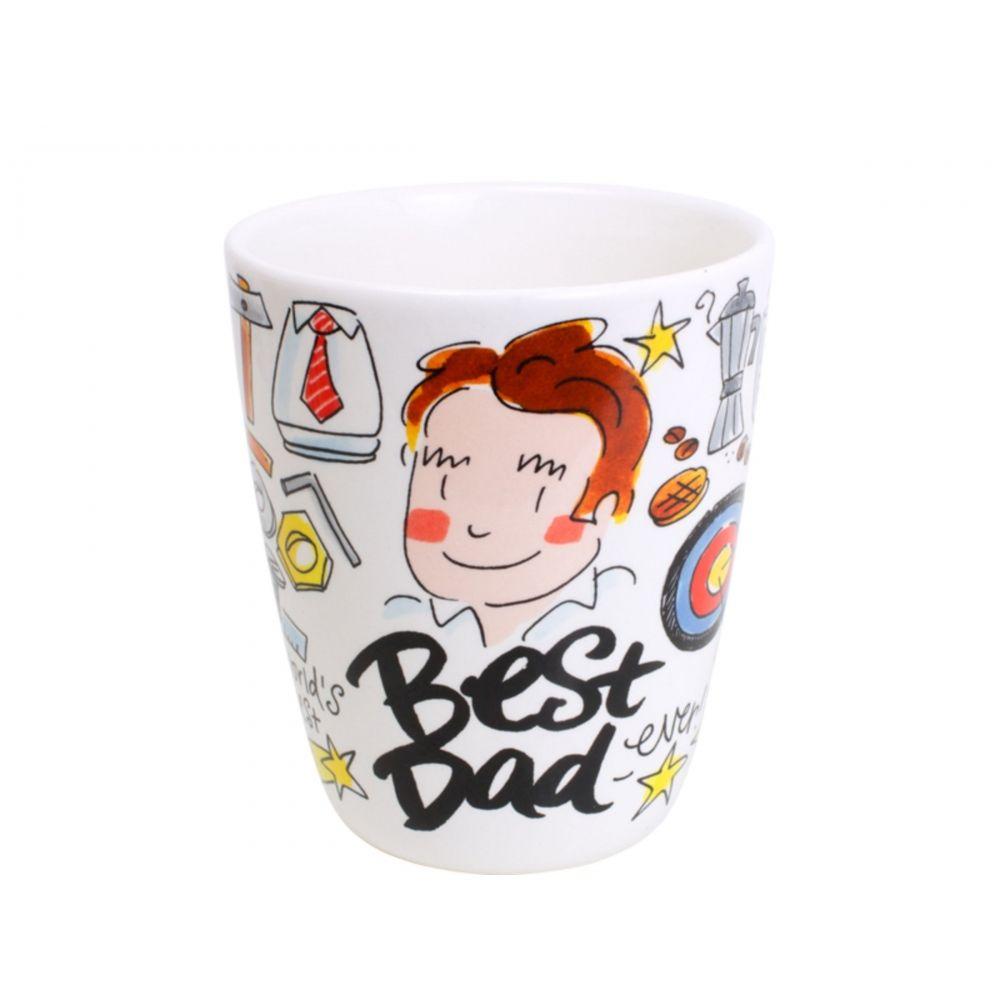Beker Best Dad 0,35L Vaderdag Blond-Amsterdam