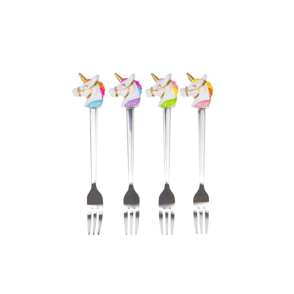 Set van 4 vorkjes Unicorn van Blond Amsterdam