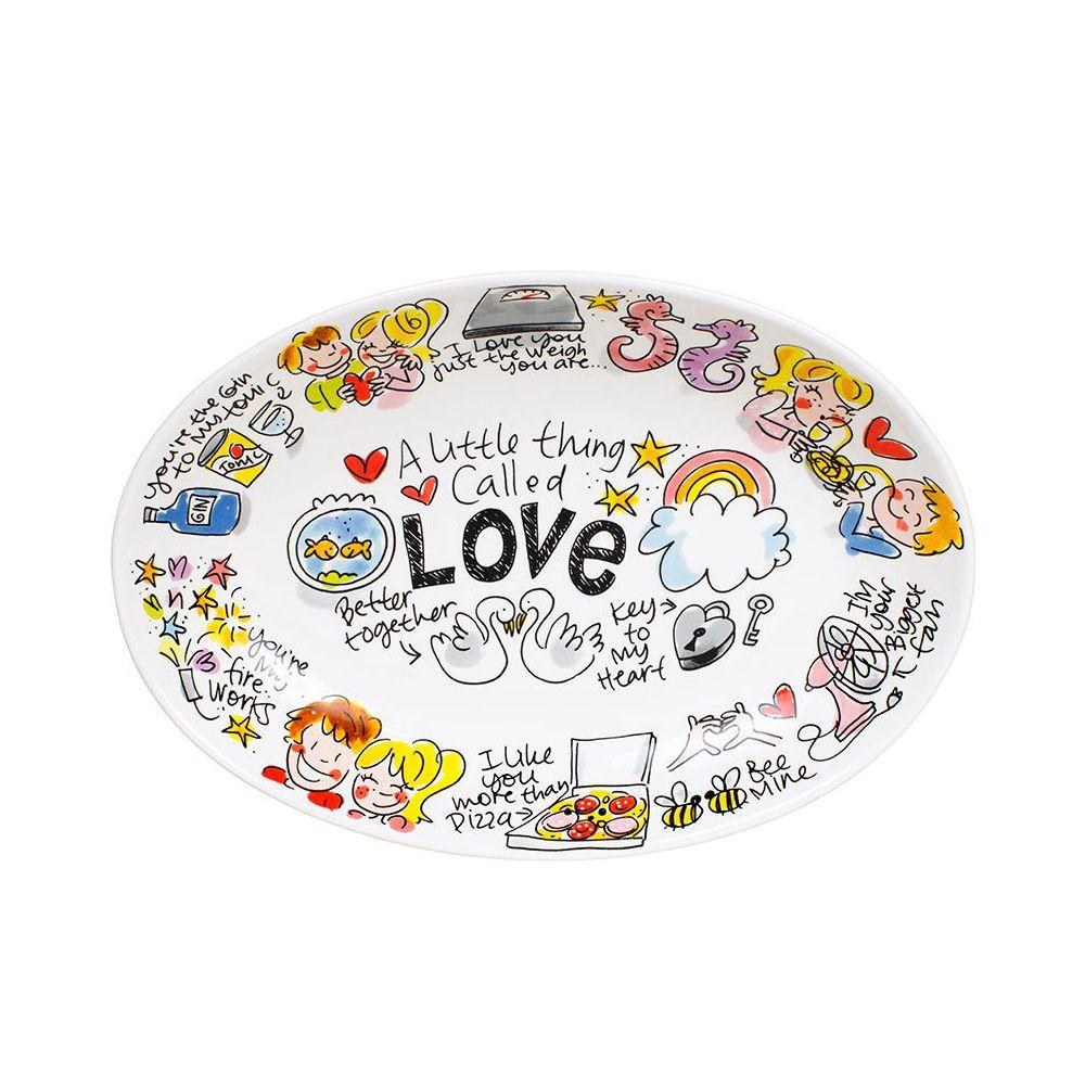 Ovale schaal ø28,5cm Love Valentijn 2019 van Blond Amsterdam
