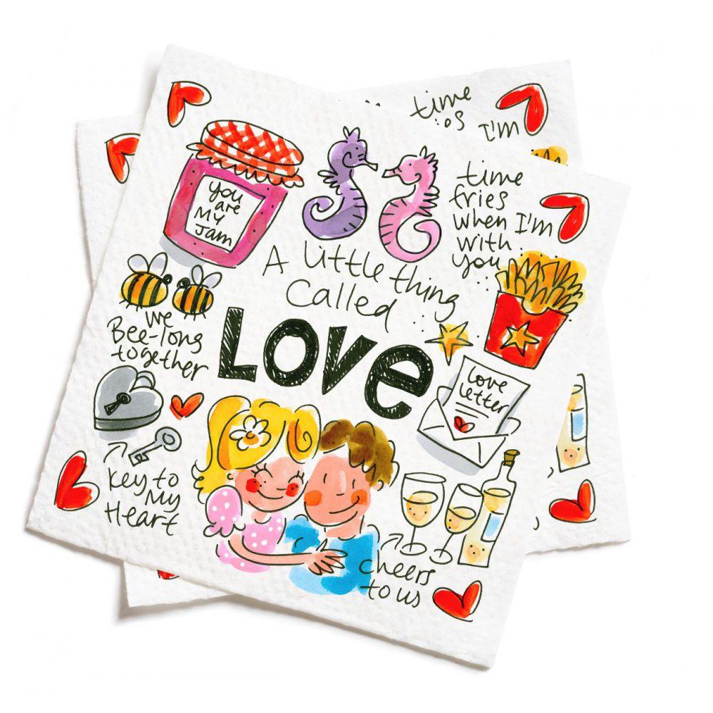 Set van 20 servetten Love Valentijn 2019 van Blond Amsterdam