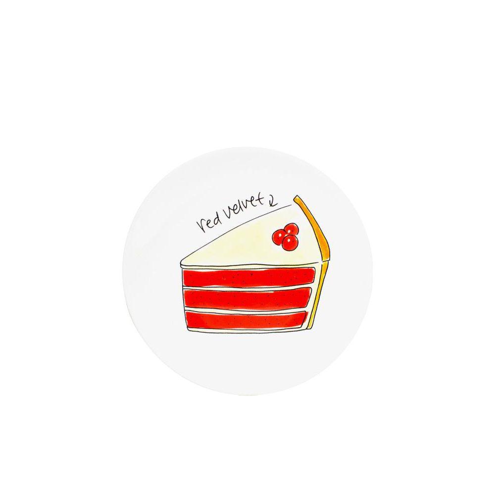 200845-Taartbord ø18cm Red velvet cake