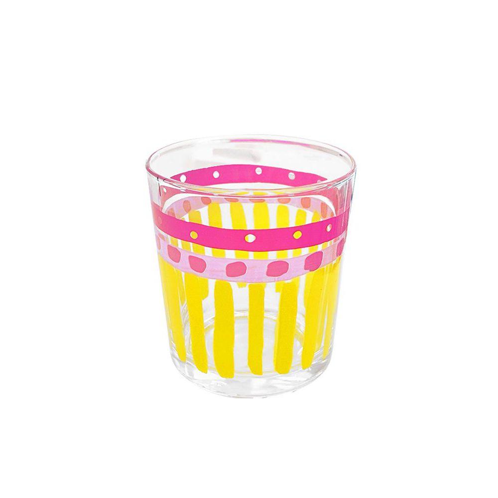 201414–EB- Glas Uni Yellow Stripe