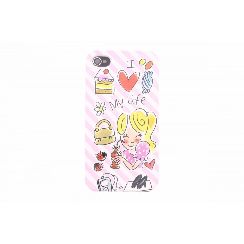 Blond-Amsterdam iPhone 4/4s telefoonhoesje I love my life
