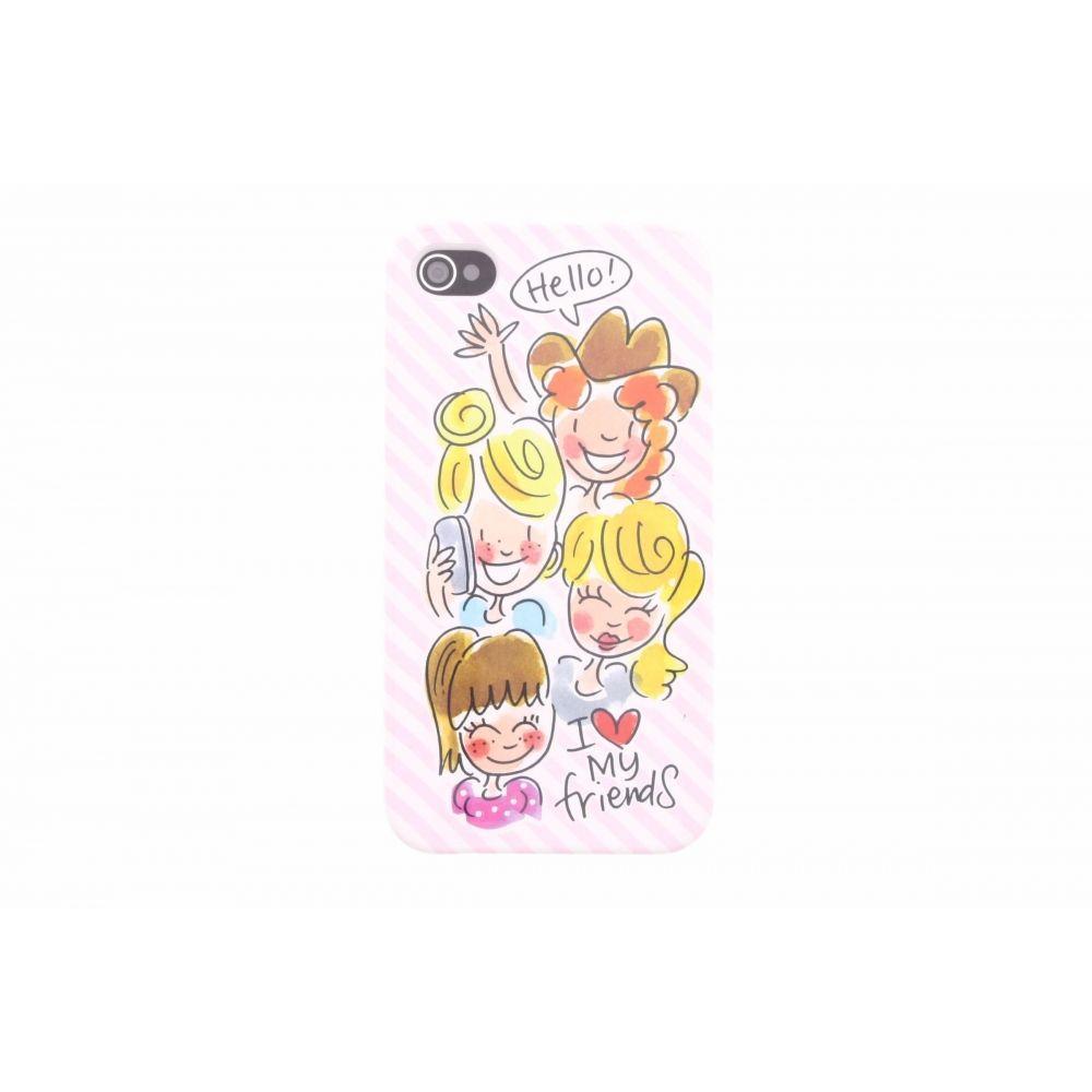 Blond-Amsterdam iPhone 4/4s telefoonhoesje I love my friends