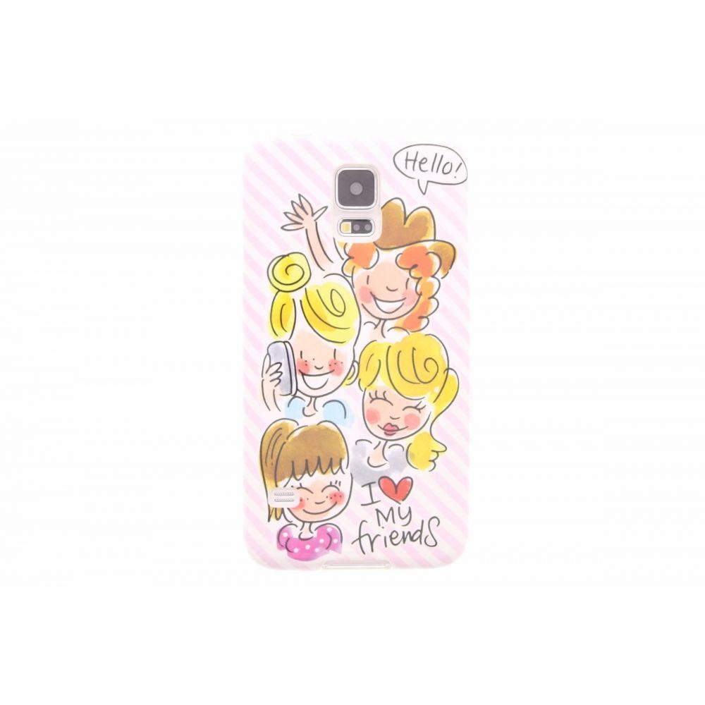 Blond-Amsterdam Samsung Galaxy S5 telefoonhoesje I love my friends