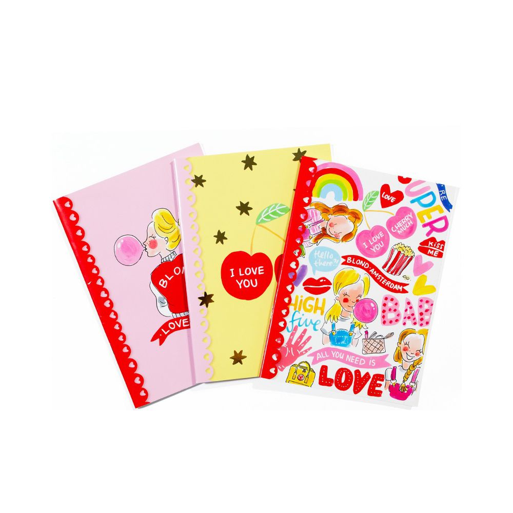 400039 BTS LOVE 21-22- SET 3 X A5 EXERCISE BOOK0