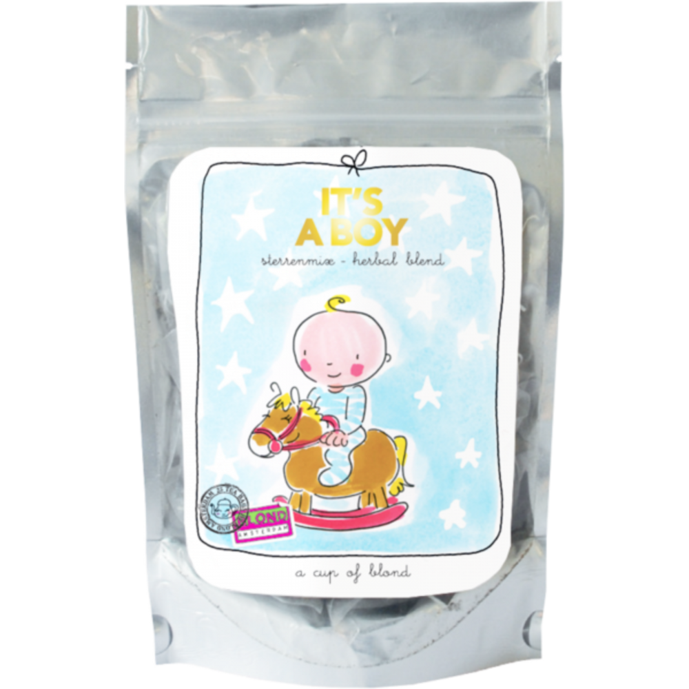 Blond Amsterdam thee A Cup of Blond - It's a boy sterrenmix herbal blend