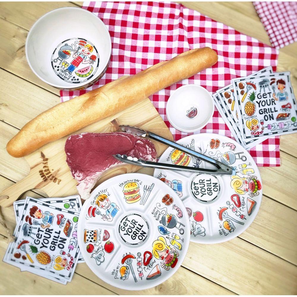 Dinerbord ø26cm Hamburger BBQ van Blond-Amsterdam