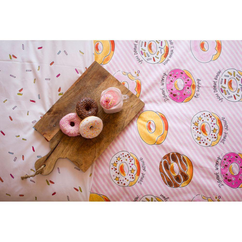 Dekbedovertrek Donuts 1p set 140x200 + 60x70 Amsterdam