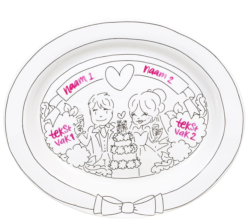 Oval dish wedding