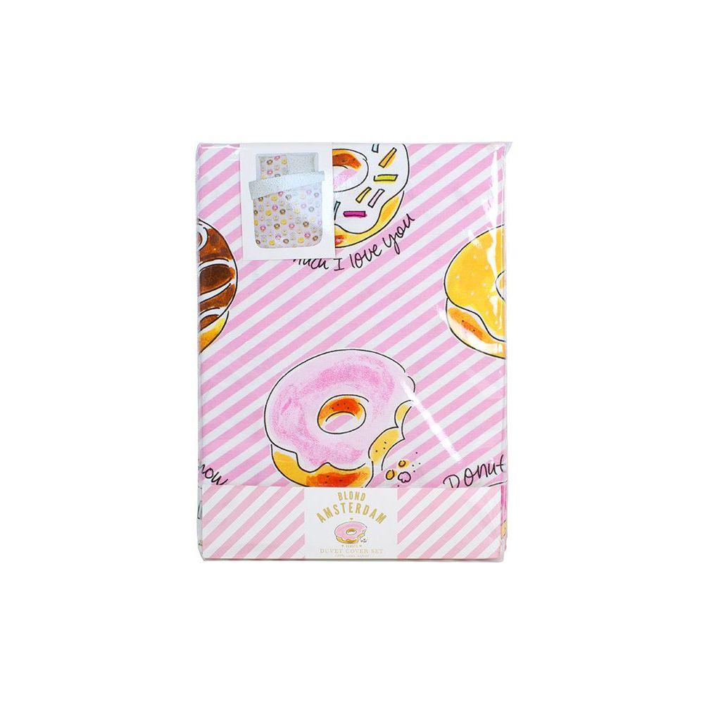 Dekbedovertrek Donuts 2p set 240x220 + 60x70 Blond Amsterdam