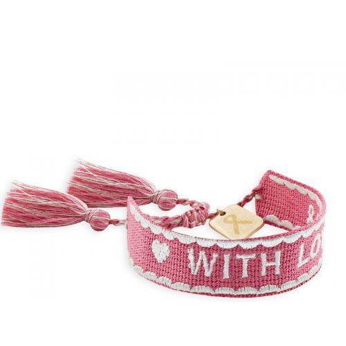 With love, donkerroze armband