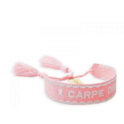 Carpe Diem, licht roze armband