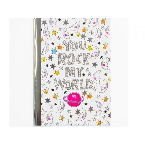 A4 Ruitjes schrift You rock my world