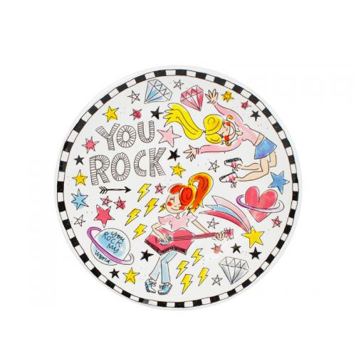 Ontbijtbord ø22cm You rock my world