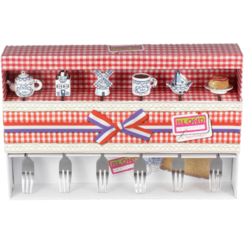 Set of 6 cake forks