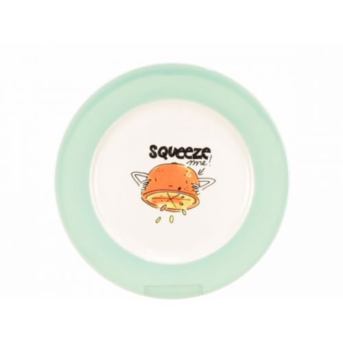 Breakfast Plate ø22cm cream/green