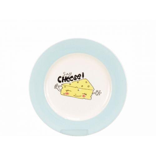 Dessert Plate ø18cm cream/blue
