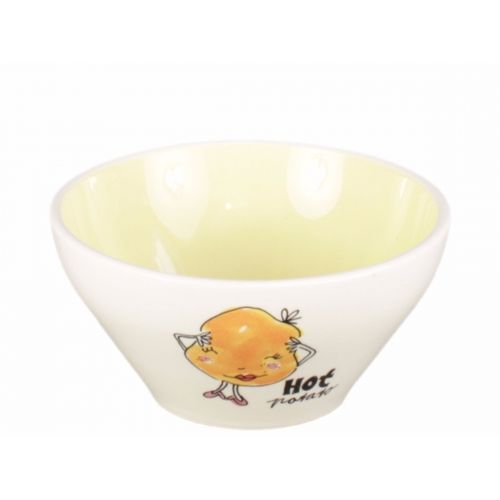 Bowl ø15,5cm cream/yellow