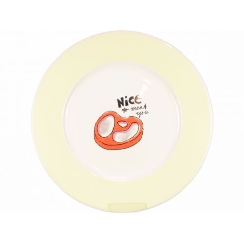 Dinner Plate ø26cm cream/yellow