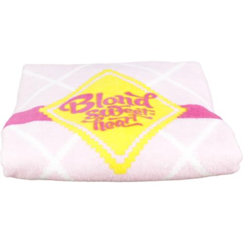 Handdoek roze ruit klein