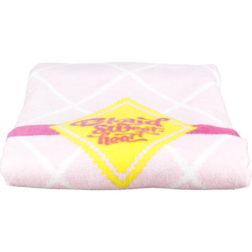 Handdoek roze ruit groot