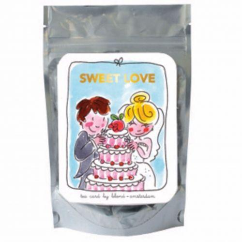 Sweet love blue - green tea lemon and ginseng