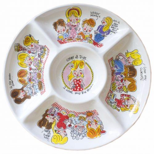 Snack Platter ø34,5cm Chips & Dips