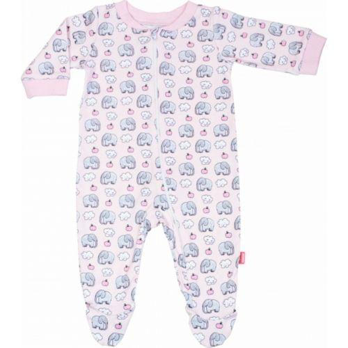 Pyjama met rits Pink elephant