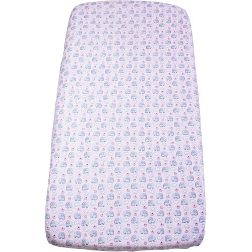 Fitted sheet for crib mattress Pink elephant