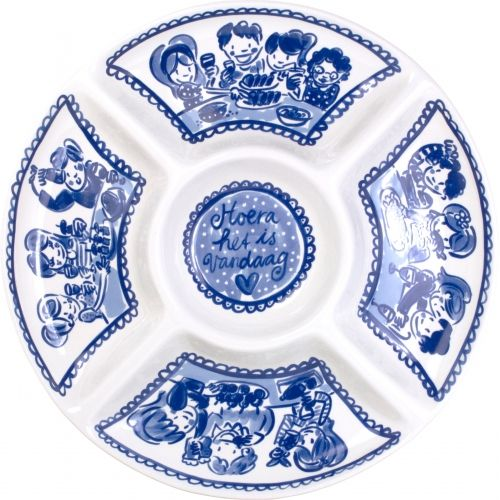 Snack Platter ø34,5cm Delfts Blond