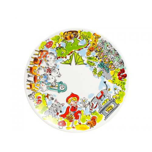 Breakfast Plate ø22cm Efteling Illustrated Border