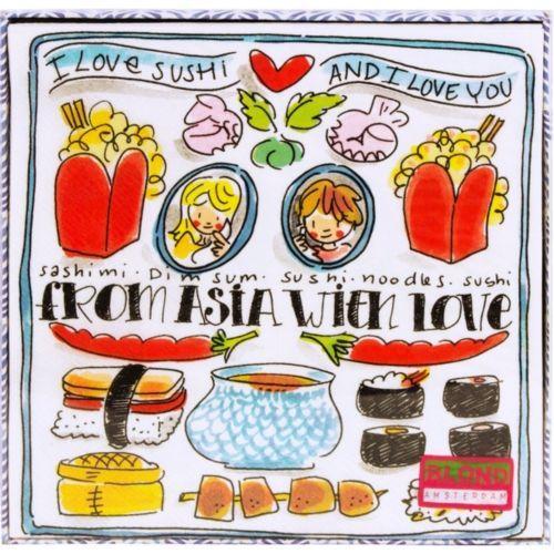 Set van 20 servetten From Asia with love